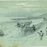 Chinese Railroad Workers and Landscape
