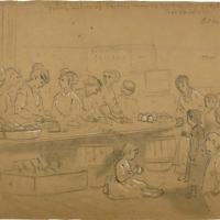 Young Ladies of Chicago Making Sandwiches for the Poor Children