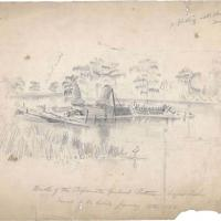 Wreck of the Confederate Gunboat Cotton at Bayou Teche, Louisiana
