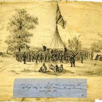 Miller's Regiment of New Jersey Militia Celebrating the Fourth of July on Runyon Avenue at Camp Princeton