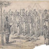 Confederate Soldiers Administering the Oath of Allegiance