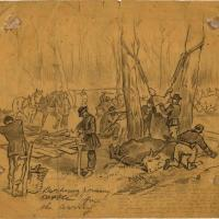 Butchering and Dressing Cattle for the Army Camp at Bacon Creek in Hart County, Kentucky